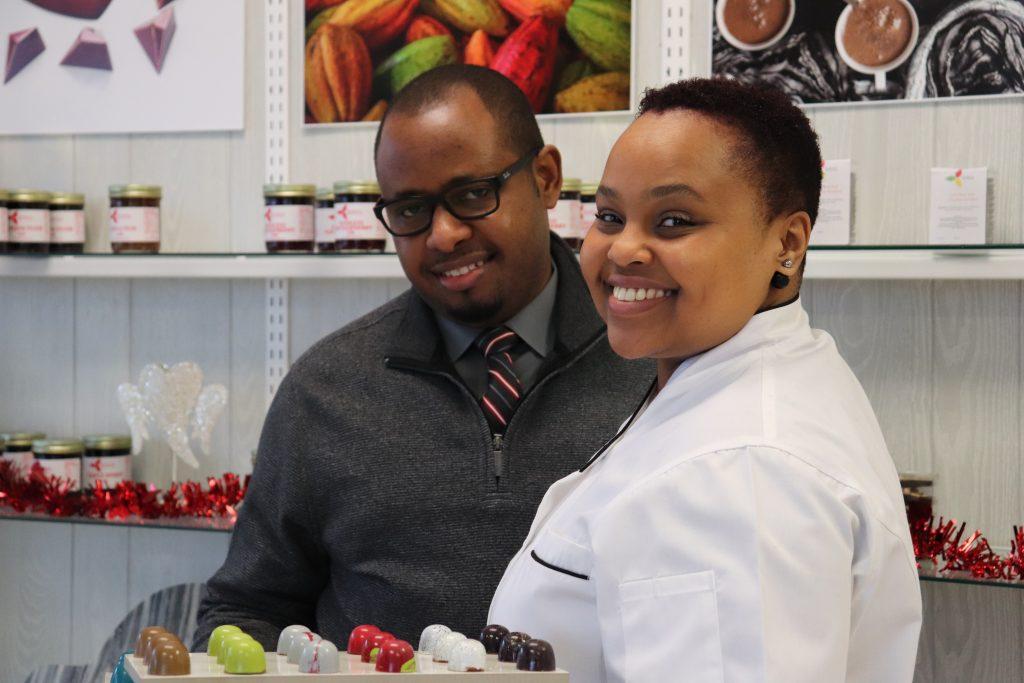 Oscar Kaunda and Yvonne Kasimbi